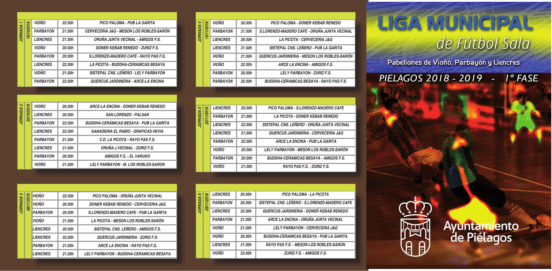 Calendario Futbol 2019.Liga De Futbol Sala 2018 2019 Ayuntamiento De Pielagos