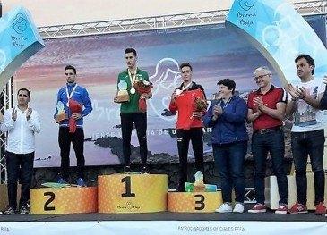 El atleta del Piélagos Fernando Sainz, ...