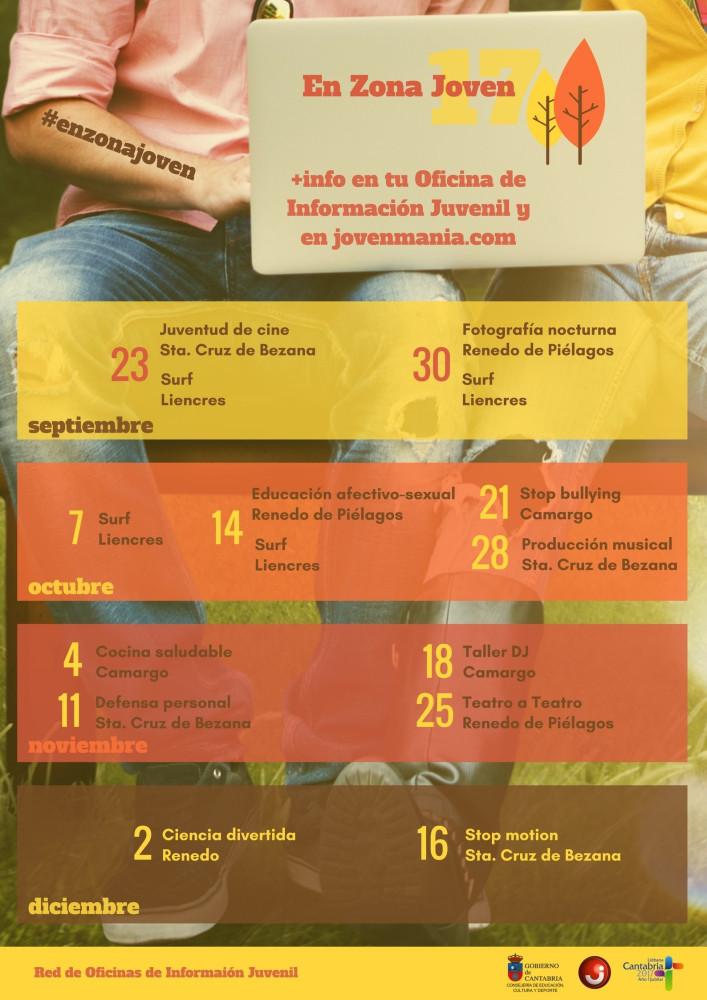 Abierta la inscripción para las actividades que el programa de dinamización juvenil 'En zona joven' organizará en Piélagos